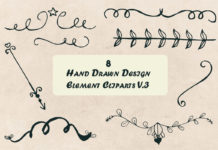 Free Handmade Design Element Cliparts V3