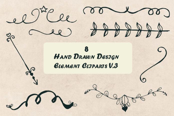 Free Handmade Design Element Cliparts V3