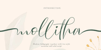 Free Mollitha Calligraphy Font