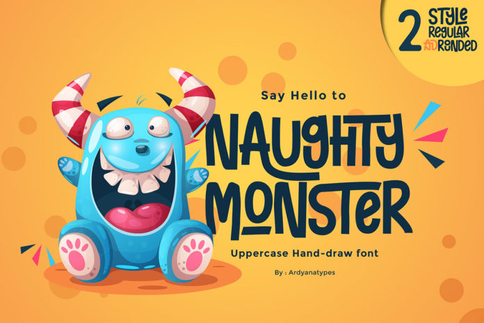 Free Naughty Monster Handmade Font