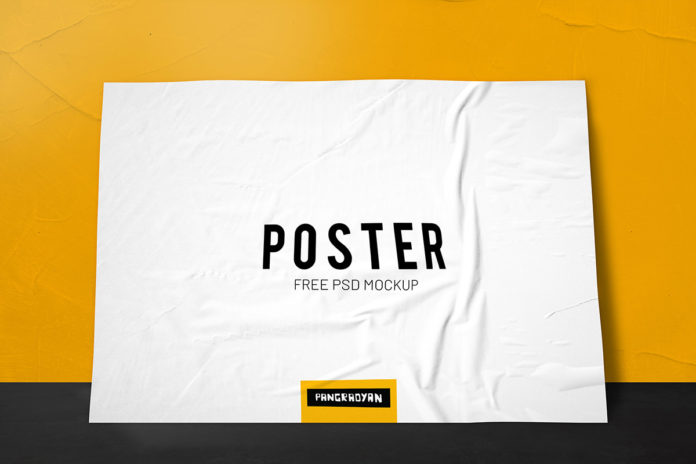 Free Poster Mockup PSD Template