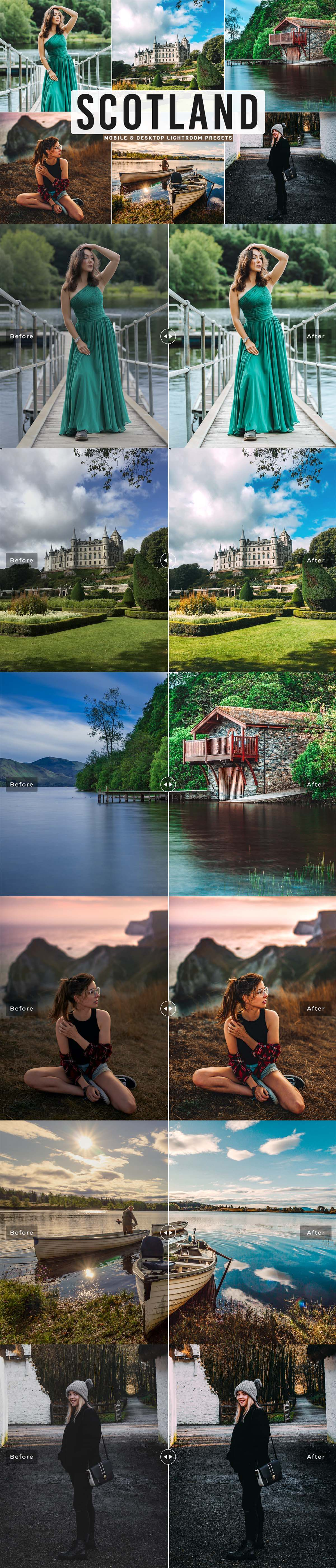 Free Scotland Lightroom Preset