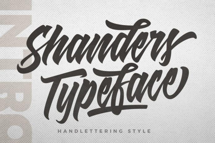 Free Shanders Brush Font