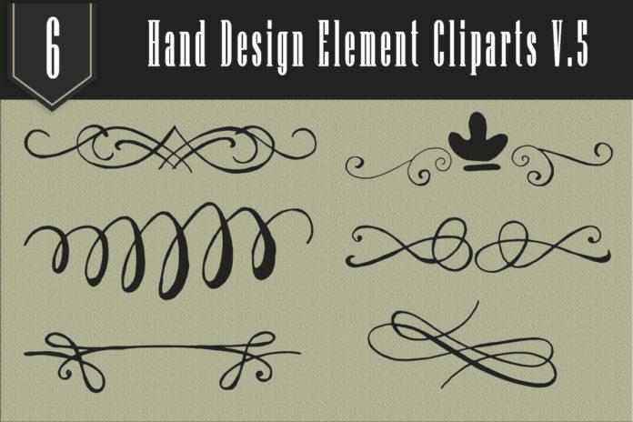 Free Handmade Element Cliparts V5