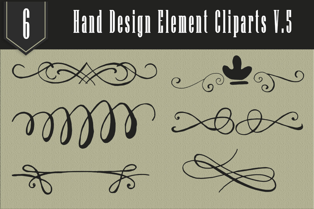 Free Handmade Element Cliparts V5