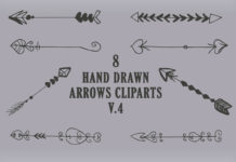 Free Handmade Arrows Cliparts V4