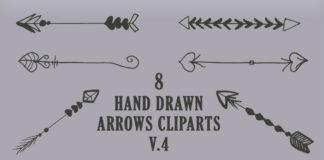 Free Handmade Arrows Cliparts V4