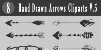 Free Handmade Arrows Cliparts V5
