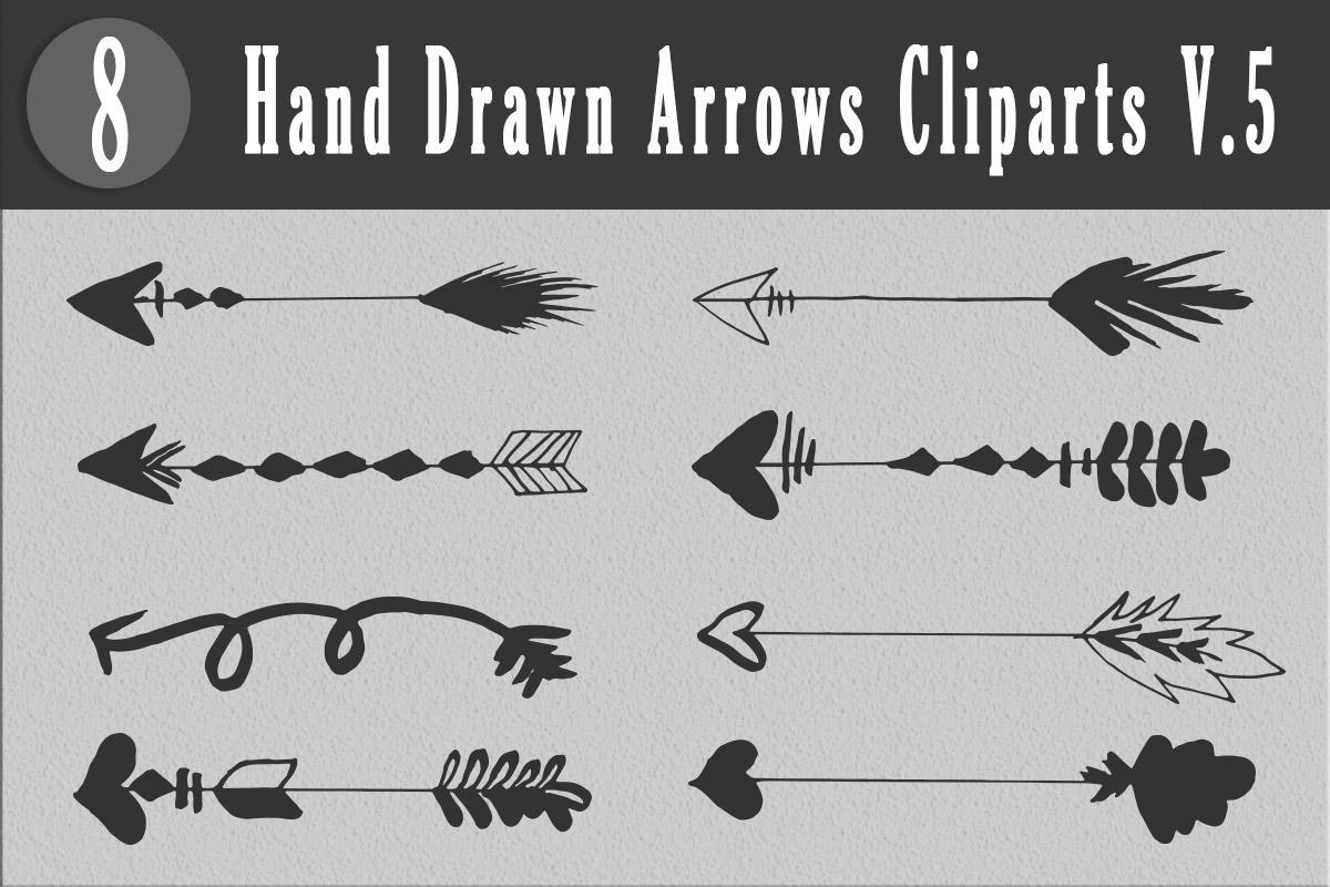 Free Handmade Arrows Cliparts V5