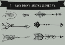 Free Handmade Arrows Cliparts V6