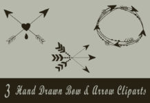 Free Handmade Bow & Arrow Cliparts