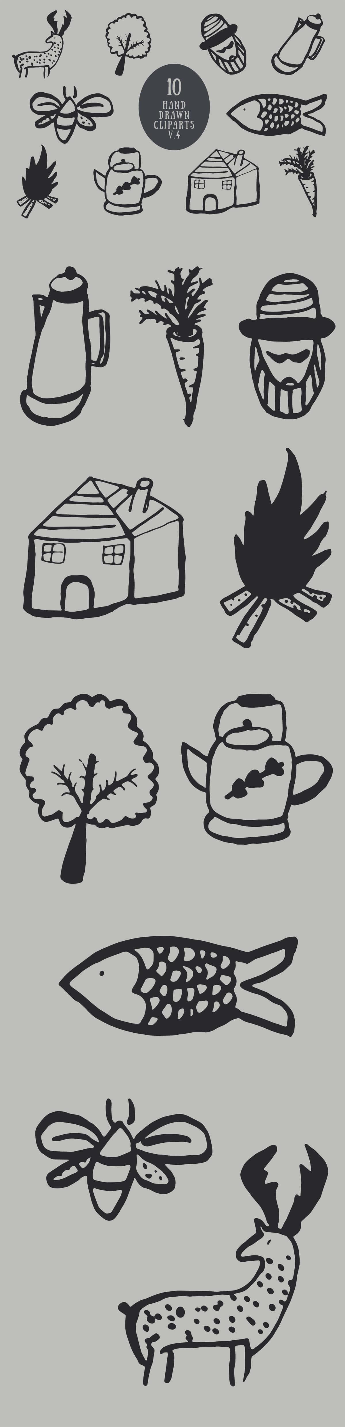 Free Handmade Miscellaneous Cliparts V4