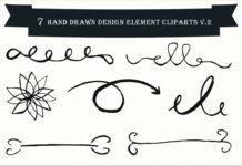 Free Handmade Design Element Cliparts V2