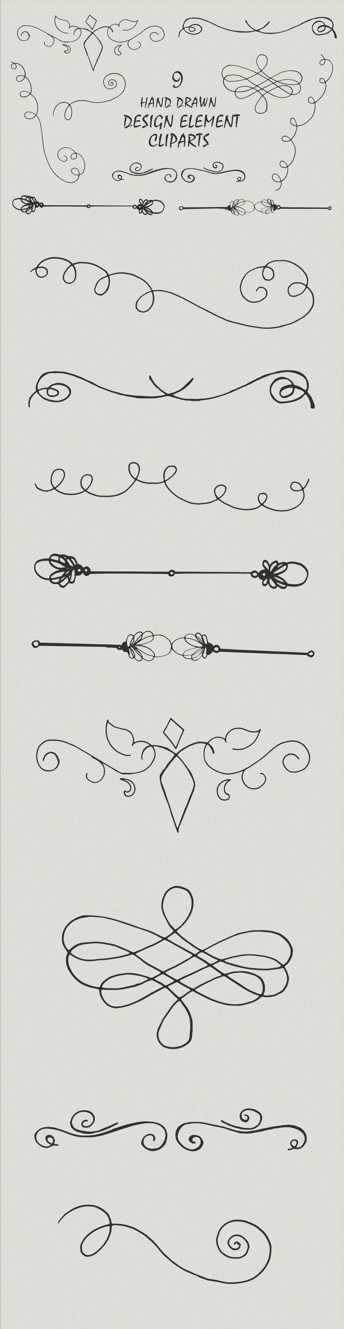 Free Handmade Design Element Cliparts