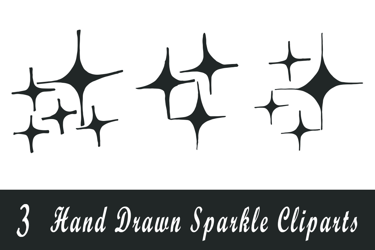 Free Handmade Sparkle Cliparts