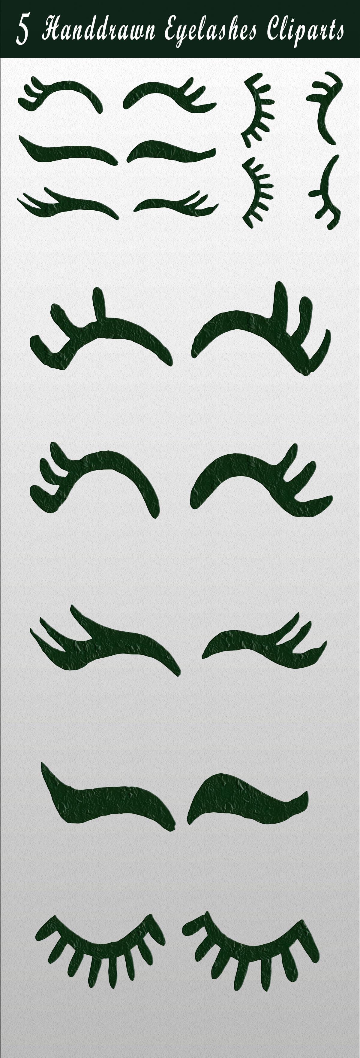 Free Handmade Eyelashes Cliparts