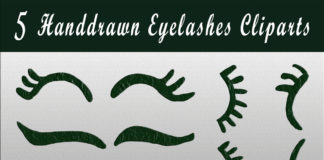 Free Handmade Eyelashes Cliparts
