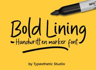 Free Bold Lining Handwritten Market Font