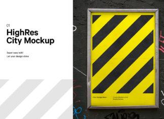 Free City Poster Mockup V2
