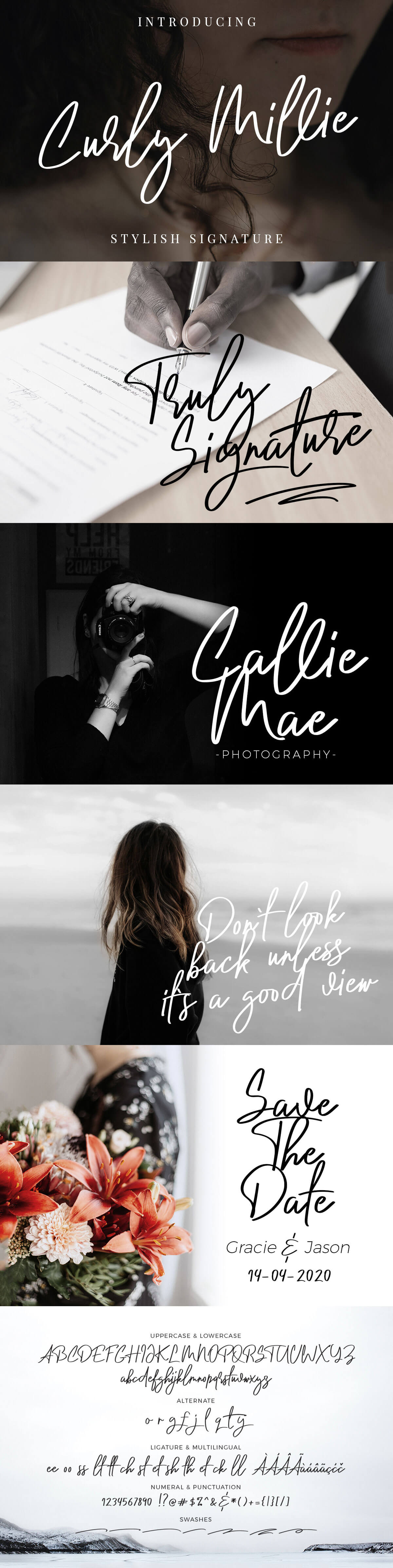 Free Curly Millie Signature Font