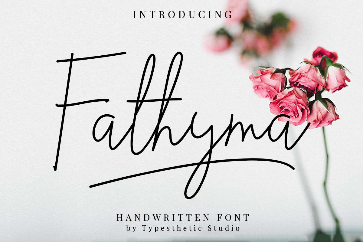 Free Fathyma Handwritten Script Font