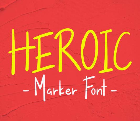 Free Heroic Handwritten Marker Font