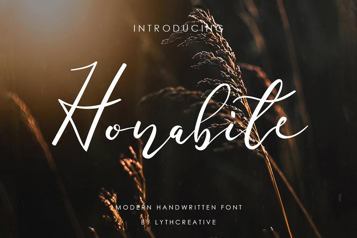 Free Honabite Script Font
