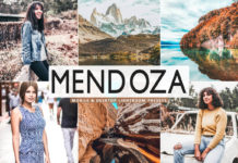 Free Mendoza Lightroom Presets