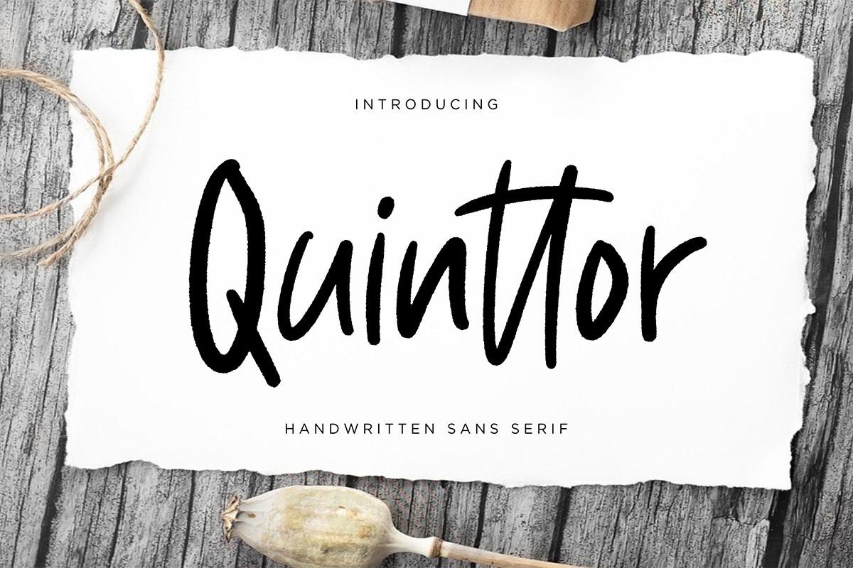 Free Quinttor Sans Serif Font