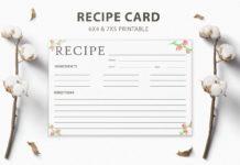 Free Recipe Card Printable Template V3