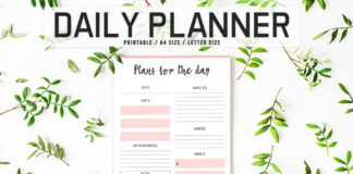 Free Colorful Daily Planner Printable