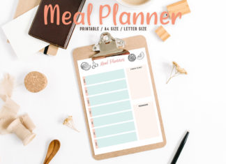 Free Colorful Meal Planner Printable