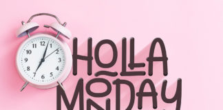 Free Holla Monday Handwritten Font