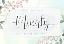 Free Mianty Script Font