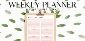 Free Modern Weekly Planner Printable