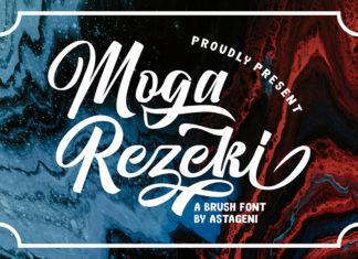 Free Moga Rezeki Brush Font