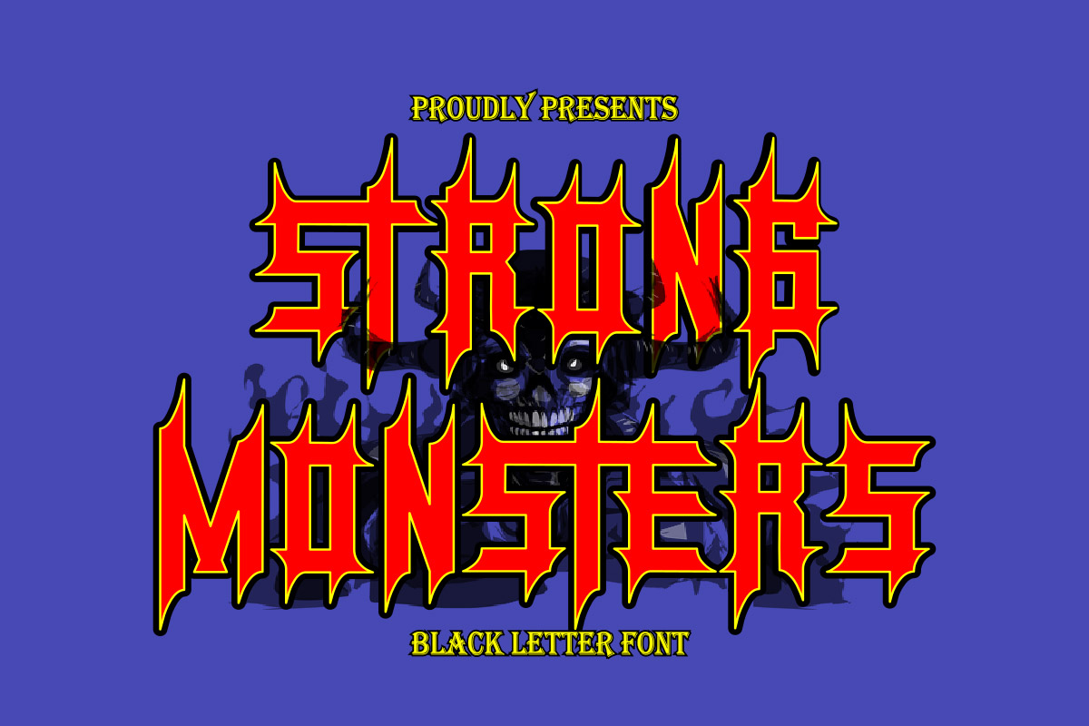 Free Monsters Blackletter Font