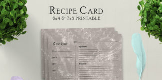 Free Muddy Recipe Card Printable V31
