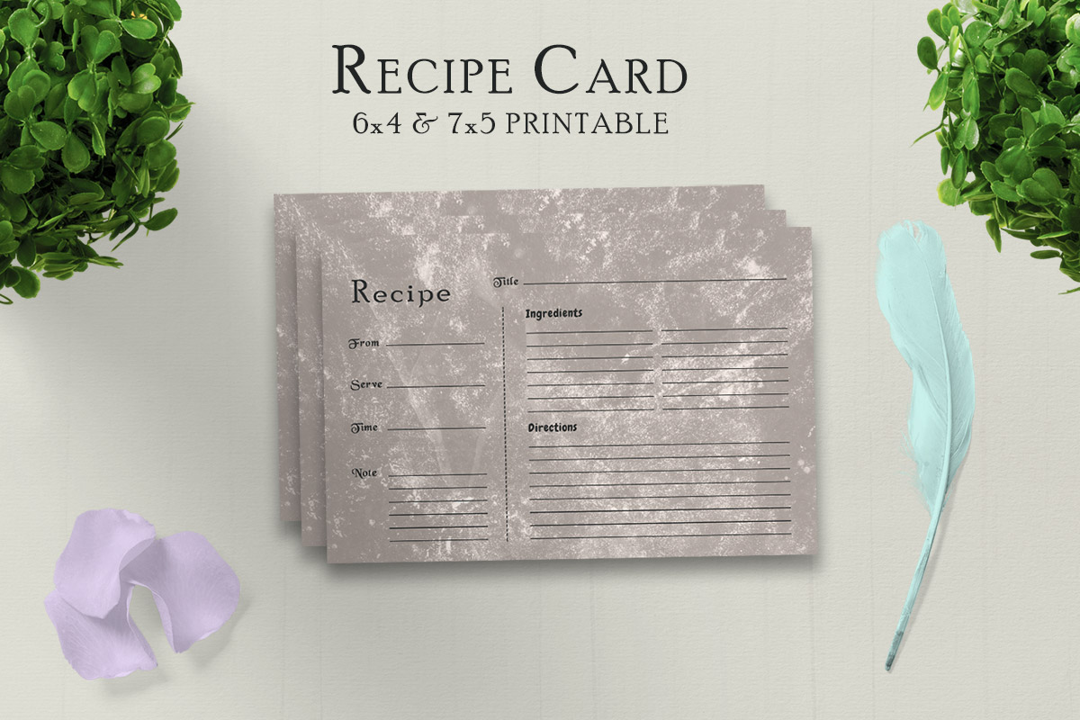 Free Muddy Recipe Card Printable V31