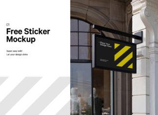Free Shop Signage Mockup