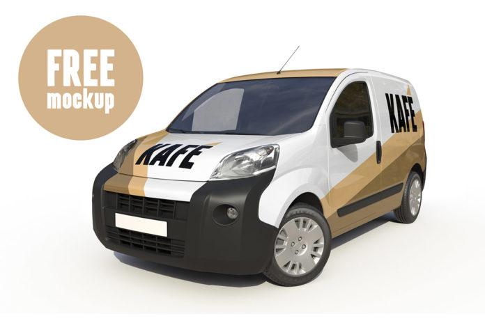 Free Van PSD Mockup