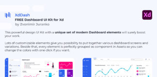 Free XdDash Dashboard UI Kit