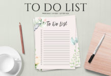 Free To Do List Printable Template