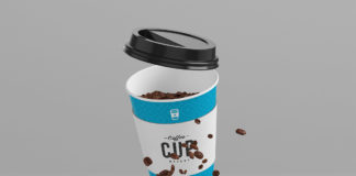 Free 8oz Coffee Cup Mockup