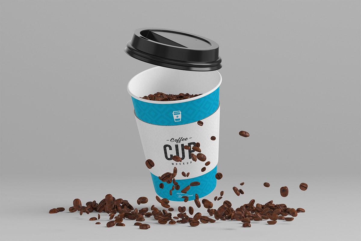 Free 8oz Coffee Cup Mockup