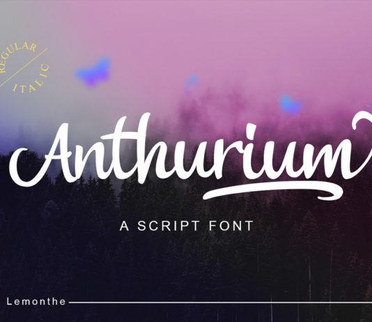 Free Anthurium Script Font