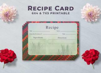 Free Artistic Recipe Card Template V1