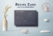 Free Black & White Recipe Card Template