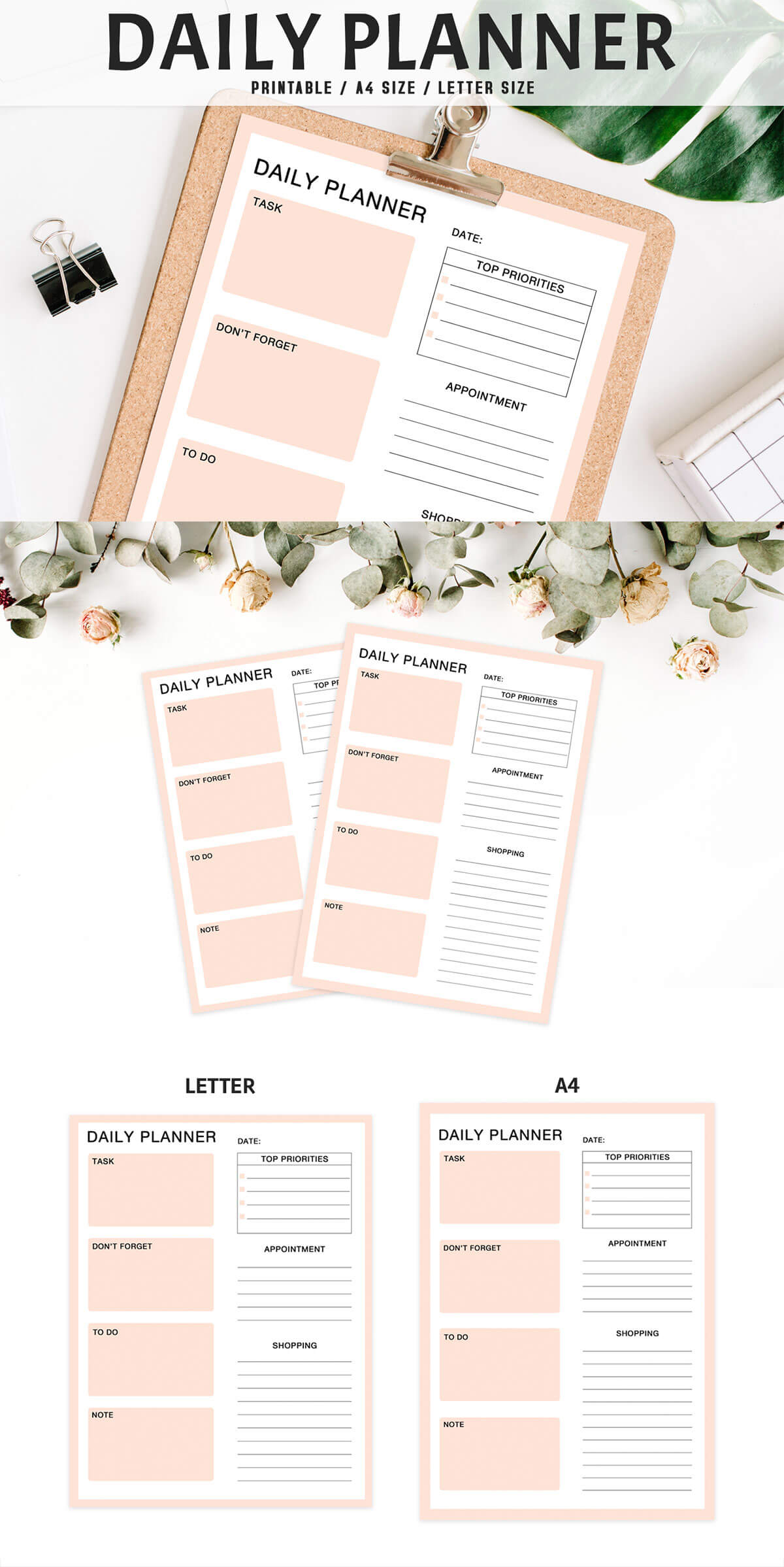 Free Colorful Daily Planner Printable V2