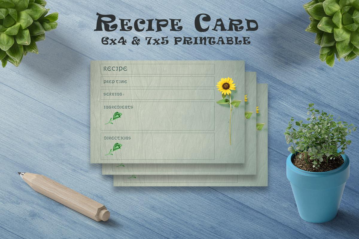 Free Dark Recipe Card Printable V34